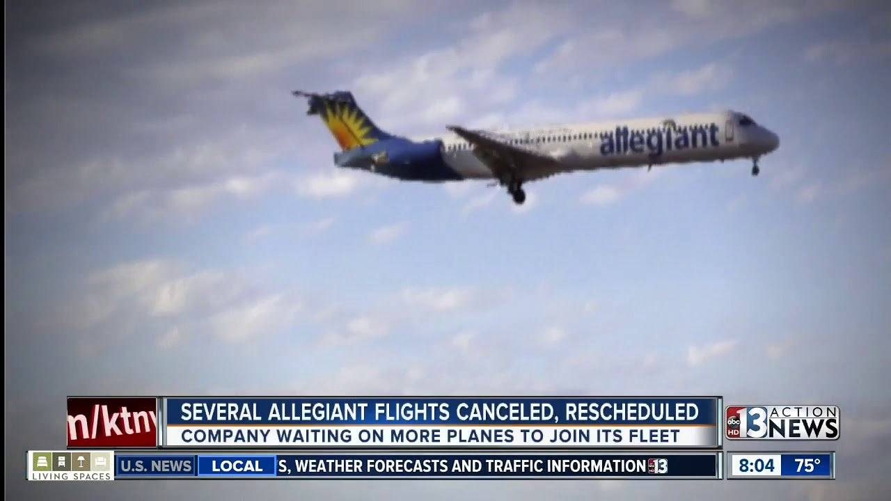 Nearly 2 dozen Allegiant flights coming to or from Las Vegas canceled, rescheduled 9