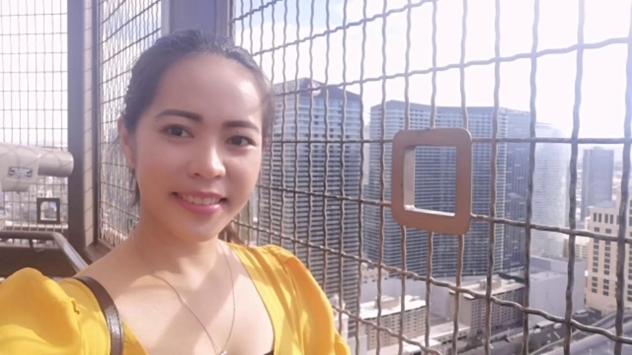 Eiffel Tower View Deck  in Las Vegas Experience   Bellagio Fountain Show 2019 Summer 9
