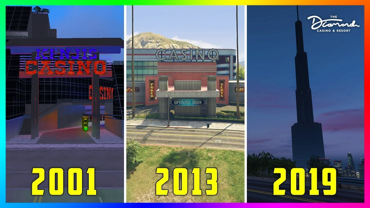 How The Casinos In Grand Theft Auto Have Changed From 2001 To 2019! (GTA 5 Online Casino DLC Update) 7