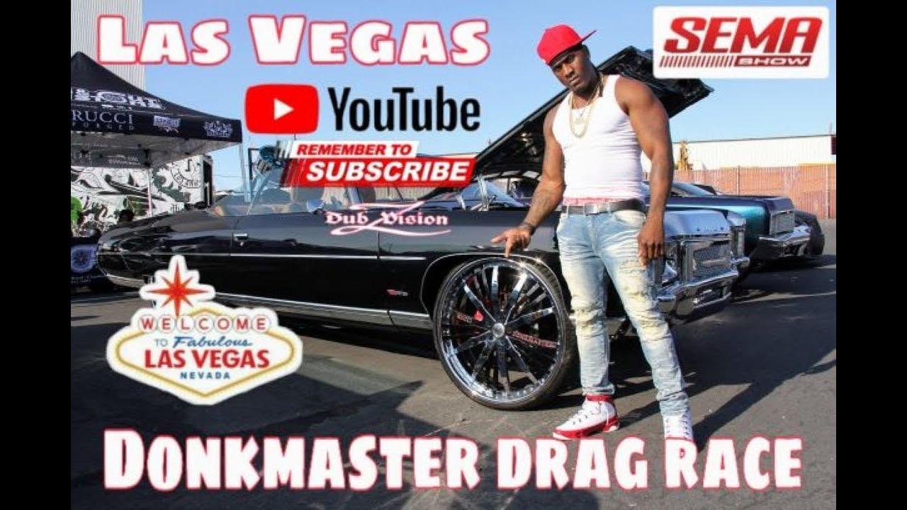 Donkmaster vs That Blue Thang Drag Race Las Vegas / EXPLOSION CAR SHOW PRE RACE 7