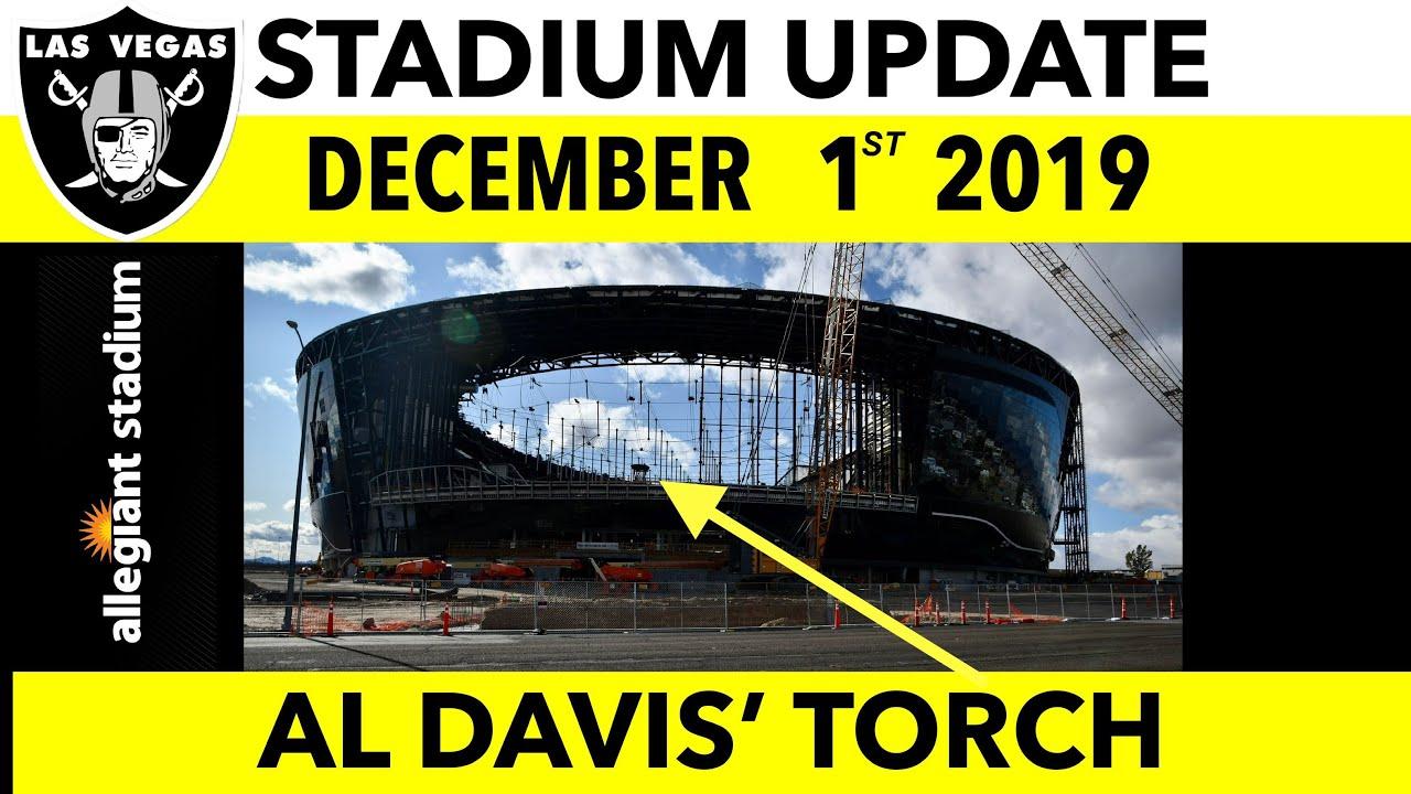 4K Las Vegas Raiders Allegiant Stadium Construction Update: Dec-01-19 Al Davis' Torch Frame Complete 5